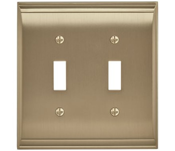 Amerock, Candler, 2 Toggle Wall Plate, Golden Champagne