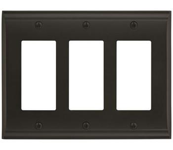 Amerock, Candler, 3 Rocker Wall Plate, Black Bronze