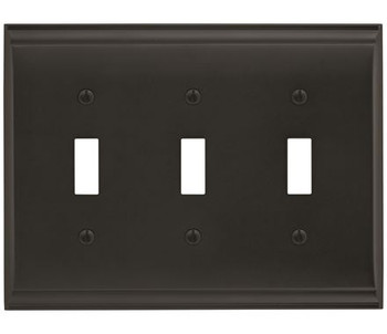 Amerock, Candler, 3 Toggle Wall Plate, Black Bronze