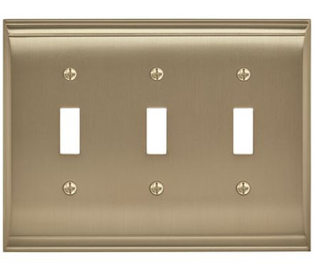 Amerock, Candler, 3 Toggle Wall Plate, Golden Champagne