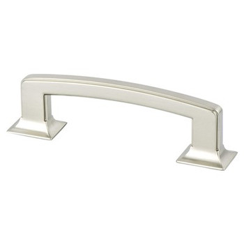 "Berenson, Hearthstone, 3 3/4"" (96mm) Pull, Brushed Nickel"
