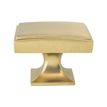 "Berenson, Hearthstone, 1 9/16"" Rectangle Knob, Modern Brushed Gold"