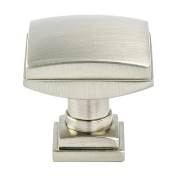 "Berenson, Tailored Traditional, 1 1/4"" Knob, Brushed Nickel"