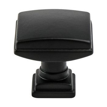"Berenson, Tailored Traditional, 1 1/4"" Knob, Matte Black"