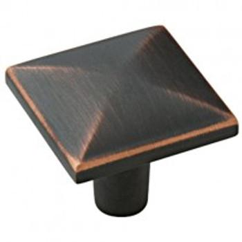 "Amerock, Extensity, 1 1/8"" Square Knob, Oil Rubbed Bronze"