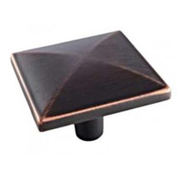 "Amerock, Extensity, 1 1/2"" Square Knob, Oil Rubbed Bronze"