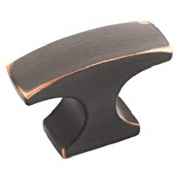 "Amerock, Conrad, 1 1/2"" Rectangle Knob, Oil Rubbed Bronze"