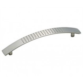 """Amerock, Essential'Z, 5 1/16"""" (128mm) Curved and Dotted Pull, Satin Nickel"""