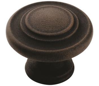 "Amerock, Inspirations, 1 5/16"" Round knob, Antique Rust"