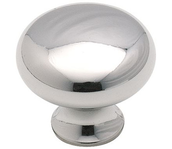 """Amerock, The Anniversary Collection, 1 3/16"""" Round Knob, Polished Chrome"""