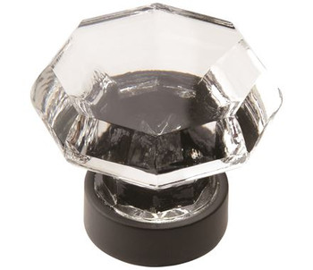 """Amerock, Traditional Classics, 1 5/16"""" Round Knob, Clear with Black Bronze"""