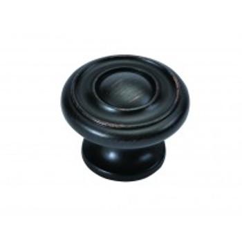 "Belwith Hickory, Altair, 1 1/2"" Round knob, Vintage Bronze"