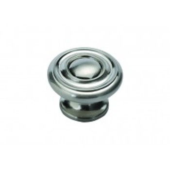 "Belwith Hickory, Altair, 1 1/2"" Round knob, Satin Nickel"