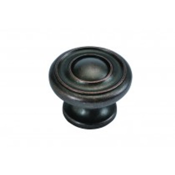 "Belwith Hickory, Altair, 1 1/2"" Round knob, Dark Antique Copper"