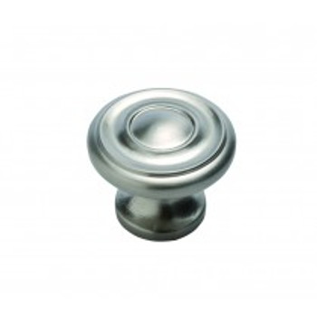 "Belwith Hickory, Altair, 1 1/4"" Round knob, Stainless Steel"