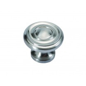 "Belwith Hickory, Altair, 1 1/4"" Round knob, Satin Nickel"