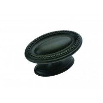 "Belwith Hickory, Altair, 1 3/4"" Oval knob, Oil Rubbed Bronze"