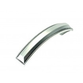 """Belwith Hickory, Altair, 3 3/4"""" (96mm) Curved Pull, Satin Antique Silver"""