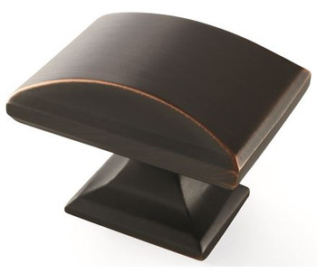 """Amerock, Candler, 1 1/2"""" Rectangle Knob, Oil Rubbed Bronze"""