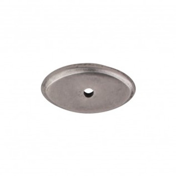 """Top Knobs, Aspen, 1 1/2"""" Oval Backplate, Silicon Bronze Light"""