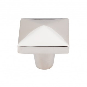 "Top Knobs, Aspen II, 1 1/2"" Square Knob, Polished Nickel"