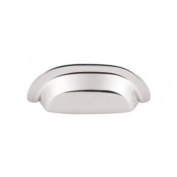 """Top Knobs, Aspen II, 3"""" Cup pull, Polished Nickel"""