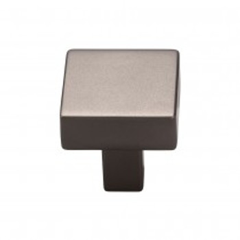 "Top Knobs, Barrington, Channing, 1 1/16"" Square Knob, Ash Gray"