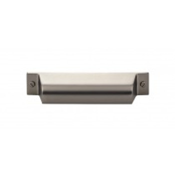 """Top Knobs, Barrington, Channing, 3 3/4"""" (96mm) Cup pull, Ash Gray"""