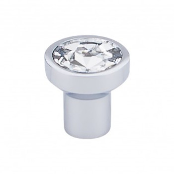 "Top Knobs, Barrington, Wentworth Crystal, 1 1/8"" Round Knob, Polished Chrome"
