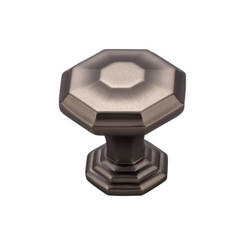 "Top Knobs, Chareau, Chalet, 1 1/8"" Knob, Ash Gray"