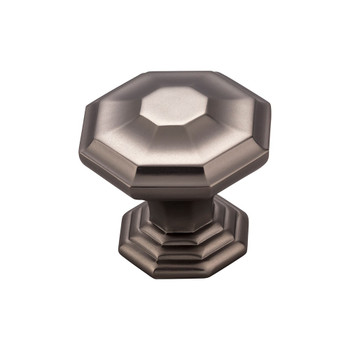 "Top Knobs, Chareau, Chalet, 1 1/2"" Knob, Ash Gray"