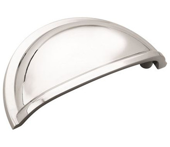 """Amerock, Cup Pulls, 3"""" Cup Pull, Polished Chrome"""