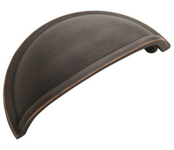"""Amerock, Cup Pulls, 3"""" Cup Pull, Oil Rubbed Bronze"""