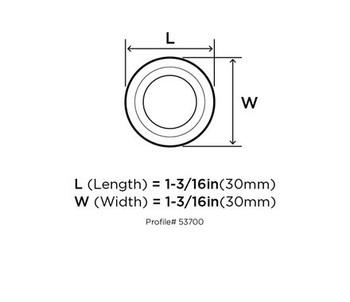 "Amerock, Kane, 1 3/16"" (30mm) Round knob- front"