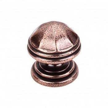 "Top Knobs, Brittania, London, 1 1/4"" Round knob, Old English Copper"