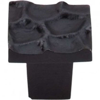 "Top Knobs, Cobblestone, 1 1/8"" Square Knob, Coal Black"