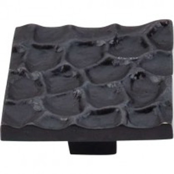 "Top Knobs, Cobblestone, 1 15/16"" Square Knob, Coal Black"