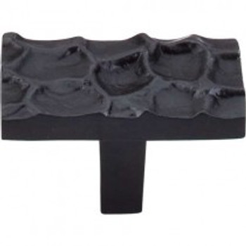 "Top Knobs, Cobblestone, 1 7/8"" Rectangle Knob, Coal Black"