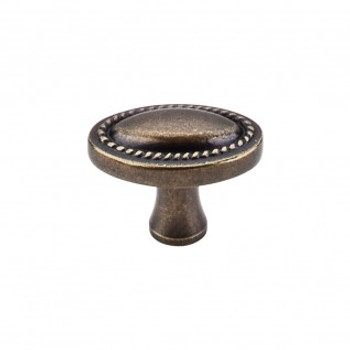 "Top Knobs, Somerset II, 1 1/4"" Rope Oval Knob, German Bronze"