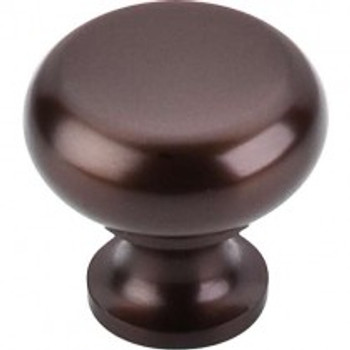 """Top Knobs, Oil Rubbed Bronze, 1 1/4"""" Flat Top Round Knob, Oil Rubbed Bronze"""