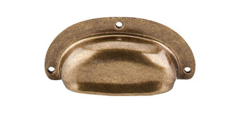 """Top Knobs, Tuscany, 3 3/4"""" (96mm) Mayfair Cup pull, German Bronze"""