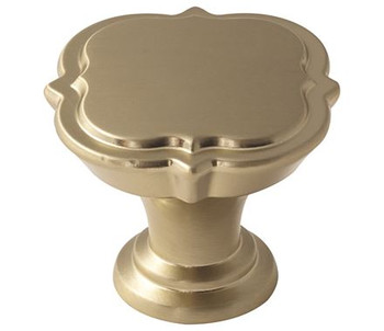 "Amerock, Grace Revitalize, 1 3/8"" Round Knob, Golden Champagne"