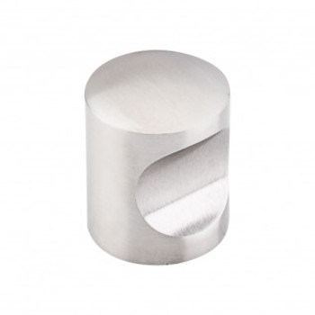 """Top Knobs, Stainless Steel, 1"""" Indent Round Knob, Stainless Steel"""