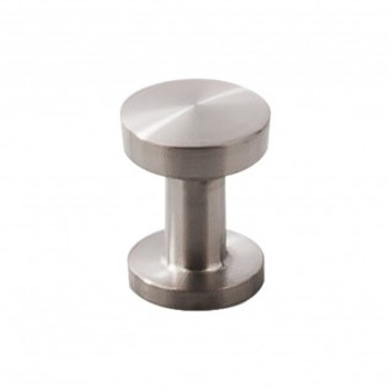 "Top Knobs, Stainless Steel, 13/16"" Wide Bottom Round knob, Stainless Steel"