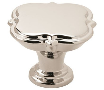 "Amerock, Grace Revitalize, 1 3/4"" (44mm) Round knob, Polished Nickel"