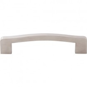 """Top Knobs, Stainless Steel, 5 1/16"""" (128mm) Curved Pull, Stainless Steel"""