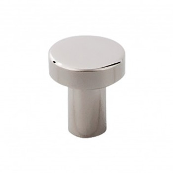 """Top Knobs, Stainless Steel, 3/4"""" Diameter Top Round Knob, Polished Stainless Steel"""