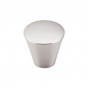 "Top Knobs, Nouveau, 1 1/16"" Cone Round knob, Brushed Satin Nickel"