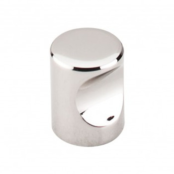 """Top Knobs, Nouveau II, 3/4"""" Indent Round, Polished Nickel"""