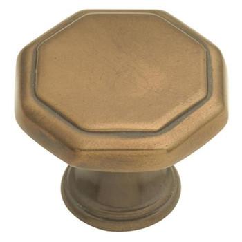 "Belwith Hickory, Conquest, 1 1/8"" Octagon Knob, Veneti Bronze"